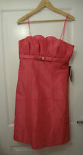BRAND NEW Pink Strapless Empire Dress By JS BOUTIQUE - UK Size 12