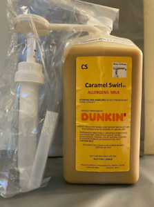 Dunkin Donuts Caramel Swirl With Pump 64 oz Jug