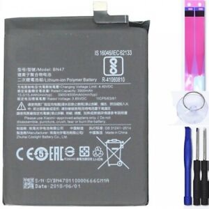 Bateria para Xiaomi A2 Lite, Redmi 6 Pro, Redmi 6X, 6, MPN Original: BN47