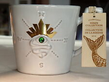 2014 Starbucks Anniversary Mug Siren's Eye Mermaid Green Jewel Siren Collection