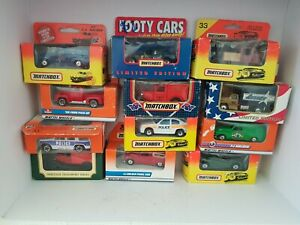 MATCHBOX 1-75 series model cars still boxed.