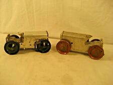 """VINTAGE MARX ? WIND UP TOY TRACTORS LOT OF 2 WORKING """"LOOK"""""""
