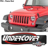UnderCover Flame Red Bolt-On Light Brow For 2007-2018 Jeep Wrangler JK