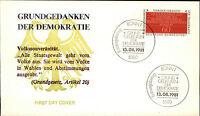 Ersttagsbrief 1981 Sonderstempel BONN FDC Briefmarke Grundgedanken Demokratie