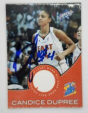 CANDICE DUPREE AUTOGRAPH SIGNED JERSEY CARD #AS10 PHOENIX MERCURY WNBA