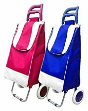 2 Wheel Shopping Trolley Pink x1 (ONE) Ideal For Walking, Easy To Transport