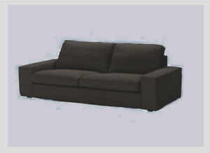 IKEA Kivik Sofa Bed Sleeper Cover Teno Black Wool NEW(MatesAvail-DiscShpg)Tweed