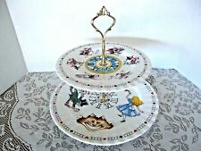 ALICE IN WONDERLAND MAD HATTER'S TEAPARTY ~ 2-TIERED CAKE PLATES~CARDEW DESIGN