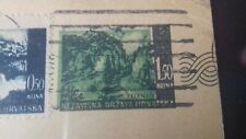 CROATIA NDH ZAGREB 10/4/1943 NICE PRESTAMPED COVER WITH VARIETY TO WIEN