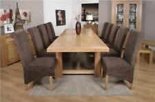 Oak Contemporary Up to 12 Seat Table & Chair Sets