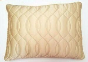 "Barbara Barry Bedding Dream Spun Gold Silk Bed Decorative Pillow 15"" x 20' New"
