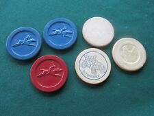New listing 6 Vintage Clay Horse Racing & Others Poker Chips