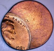 1981 ERROR Off Center Lincoln Cent Coin NICE EARLY DATE BU + O/C LOT #812  NR