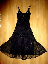 PRINCIPLES purple heavily beaded sequins 1920 gatsby charleston party dress 8