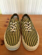 Yellow & Grey Stripe Vans Trainers ~ Women's Size 4.5 ~ Very Good Condition!