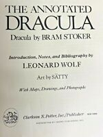 The Annotated Dracula by Bram Stoker Notes by Leonard Wolf 1975 Hardcover 1st Ed