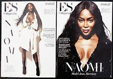 NAOMI CAMPBELL SUPERMODEL TWIN COVERS ES MAGAZINE BEAUTY EDITION MAY 2017