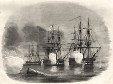 HMS Hastings, Cornwallis & Amphion frente a la Sandhamn Pilas. Suecia, 1855