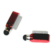 Dust Cover Dock Charge Port Stylus For iPad 2 3 iPhone 4 4G 4S 3G 3Gs ipod  Red