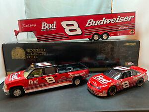 Brookfield Dale Earnhardt Jr Bud Truck NASCAR & Hauler Trailer 1/24 Diecast Set