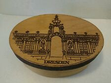 Vintage Dresden Wooden Oval Box