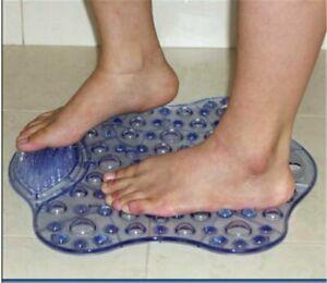 Bath Mat with Foot Cleaner Shower Bath Bathroom Aid Suction Caps