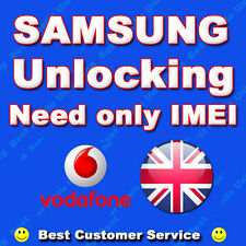 UK VODAFONE SAMSUNG GALAXY NOTE 2 3 4 S4 S5 UNLOCK CODE - ALL SAMSUNG MODELS