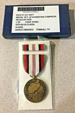 Medal Set, Afghanistan Campaign- Regular Size. Includes Medal and Ribbon