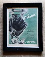 "Vintage 1940s Wilson Baseball & Golf Advertisements - Framed - 13 1/2"" X 10"""