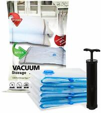 5 Medium Vacuum Storage Bags Air Tight Shrink Clutter 28 x 20 in with Air Pump