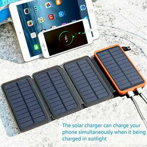 12000mAh Solar Panel External Battery Charger Dual USB Solar power bank AUS