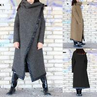 ZANZEA 8-24 Women Winter Long Midi Coat Jacket Outerwear Parka Overcoat Plus