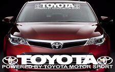 TOYOTA MOTOR SPORTS Graphic Windshield Vinyl Decal Sticker Custom Vehicle Logo