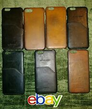 7 pc lot Shinola IPHONE 6 BLACKS BROWNS LEATHER PHONE CASE CASES W CARD POCKET