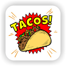 More details for tacos! lover foody mexican mexico cheese funny drink coaster gift cheese