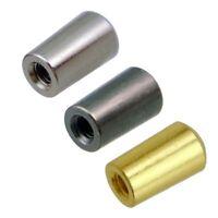 50pcs Guitar Pot Nut Feingewindemutter dünne Mutter 8mm Durchmesser für