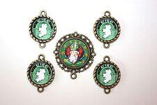 IRISH St. Patrick Rosary Parts Set # 4/Green Ireland Paters /FREE SHIPPING