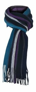 Giovanni Cassini - Mens Thick Multi Color Warm Large Striped Knit Winter Scarf