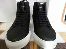 New Givenchy Urban Street Knots Black Leather High Top Men Sneaker SZ 43/ US 10