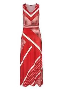 Kleid Maxi Kleid Tamaris ärmellos Sommer rot weiß gestreift Gr 38