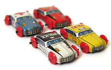 Vintage 4 Small Miniature Tinplate Cars Vehicles Ambulance Taxi Retro Toy Japan