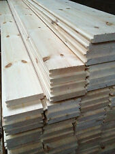 """COLLECT Pine floor boards, floor repair board 5""""x7/8""""/126mm wide x 21mm flooring"""