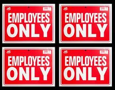 """4 EMPLOYEES ONLY   Flexible Heavy Plastic Sheet   9""""x12"""" - 4 Sign"""