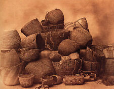 Puget Sound Baskets 15x22 Edward Curtis Native American Indian Art Photograph