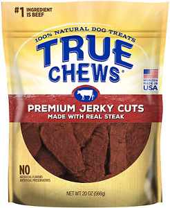 True Chews Premium Jerky Cuts Made with Real Steak 10 Ounce/ 20 oz