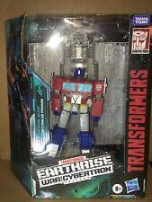 Transformers Wfc Earthrise Optimus Prime & Trailer Leader Class Figure