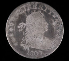 1807 DRAPED BUST SILVER QUARTER DOLLAR COIN GOOD+