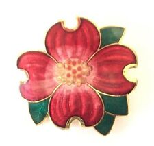 Brooch Cloisonné Hand Painted Flower Design Beautiful In Luxury Gift Box