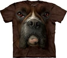 Boxer Face Dogs T Shirt Adult Unisex The Mountain