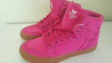 NEW Supra Vaider Womens Round Toe Canvas Pink Skate Shoe Size 8 UK 5.5 EU 39